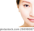 Closeup shot of young beautiful woman face 26698087