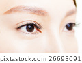 Closeup shot of young beautiful woman eyes 26698091