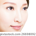 Closeup shot of young beautiful woman eyes 26698092