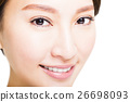Closeup shot of young beautiful woman eyes 26698093