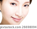 Closeup shot of young woman eyes makeup 26698094