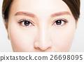Closeup shot of young woman eyes makeup 26698095