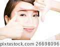 Closeup shot of young woman eyes makeup 26698096
