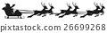侧影 剪影 圣诞老人 26699268