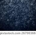 Frosty winter New Year's background, falling snowf 26700366