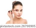 mascara, applying, make 26700905