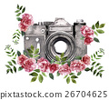 watercolor camera isolated on white background 26704625