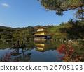 Shining in autumn colors. Kinkakuji Temple. 26705193