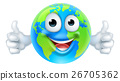 Earth Mascot Cartoon Character 26705362
