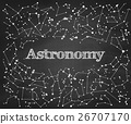 Constellations vector pattern with word Astronomy 26707170