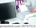 printer, paper, white 26707523
