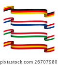 Vector set ribbons in the colors of Germany,France 26707980