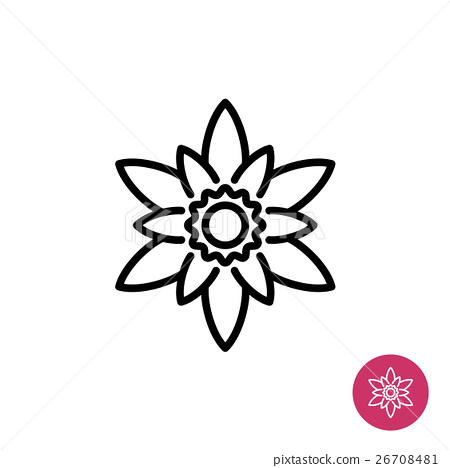 Lotus Flower Symbol Stock Illustration 26708481 Pixta