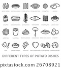 different types of potato dishes 26708921