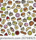 world best desserts and sweets seamless pattern 26708925