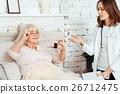 Professioanl pleasant female doctor 26712475