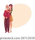 Young beautiful granddaughter hugging grandmother 26713039