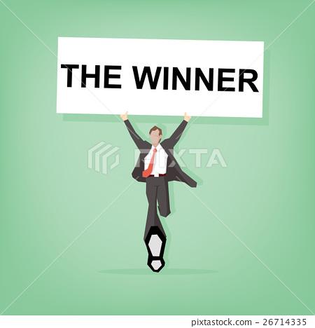 Happy celebrating winning success businessman 26714335
