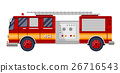 red fire truck engine on white vector illustration 26716543