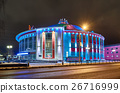 Building of Russian circus at night with colored 26716999