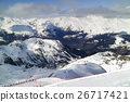 ski slopes in Alps,winter snow  mountain panorama 26717421