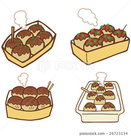 takoyaki, octopus dumplings, snack 26723134