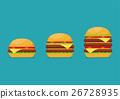 Three hamburgers set 26728935