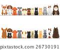 소형 개와 고양이의 국경 세트 정면과 뒷모습 26730191