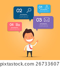 Modern business infographic with businessman 26733607