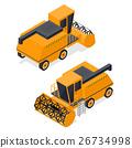 combine, harvester, isometric 26734998