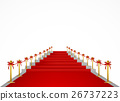 Red carpet and stairs for VIP persons. Vector 26737223