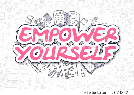 Empower Yourself - Cartoon Magenta Word. Business 26738223
