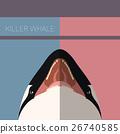Killer Whale flat postcard 26740585