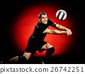 volley ball player man isolated 26742251