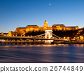 Illuminated Buda Castle and Chain Bridge over 26744849