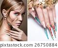Beautiful girl with bright fashion make-up 26750884