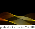 Abstract waves or smoke in golden colors 26752788