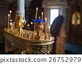 candles and lamp close-up. Interior Of Orthodox 26752979