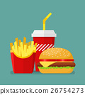 Hamburger French Fries and Soda 26754273
