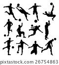 Soccer Footballer Silhouettes 26754863
