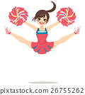 Jumping Cheerleader Girl 26755262