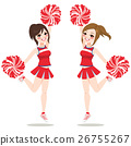 Cheerleaders Jumping Dancing 26755267