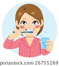 Girl Brushing Teeth 26755269