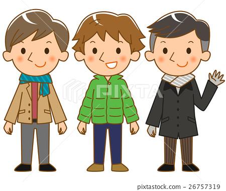 Men wearing coats 26757319