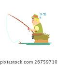 Amateur Fisherman In Khaki Clothes Sleeping On 26759710