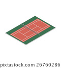 Field for the game of tennis, vector illustration. 26760286