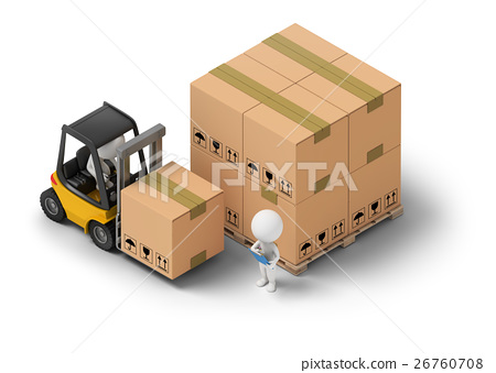 isometric people - warehousing 26760708