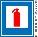 Fire Extinguisher Sign 26761066