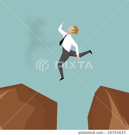 businessman jumping over gap. 26763635