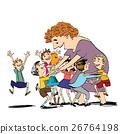 Children and nanny or teacher 26764198